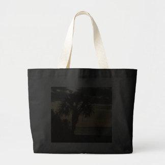 Black Jumbo Tote with Palm Tree Bag