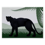 Black Jungle Panther Poster