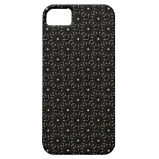 Black kaleidoscope pattern barely there iPhone 5 case