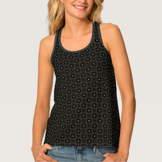 Black kaleidoscope pattern tank top