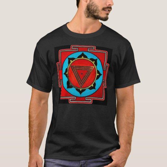 Black Kali Yantra T Shirt