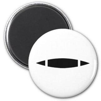 black kayak icon 6 cm round magnet