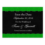 Black Kelly Green Lace Save Date Wedding 02