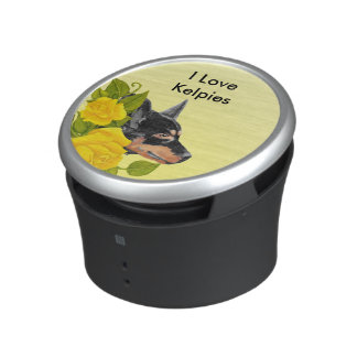 Black Kelpies and Yellow Roses Bluetooth Speaker