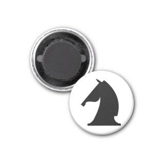 black khight (you need 2) 3 cm round magnet