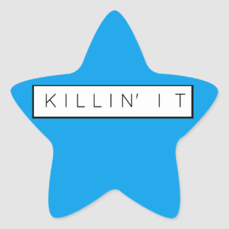 Black Killing It Letters Print Killin' It Star Sticker
