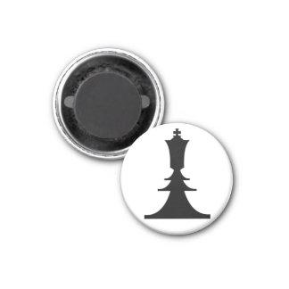 black king 3 cm round magnet