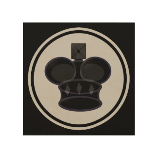 Black King Chess Icon Wood Canvas
