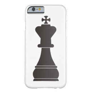 Black king chess piece barely there iPhone 6 case