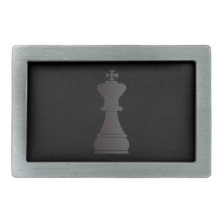 Black king chess piece belt buckles
