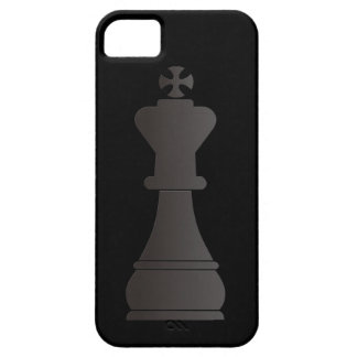 Black king chess piece iPhone 5 cases