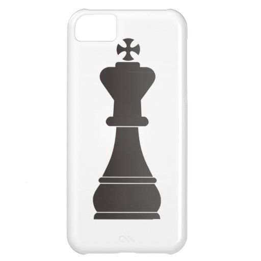 Black king chess piece iPhone 5C cases