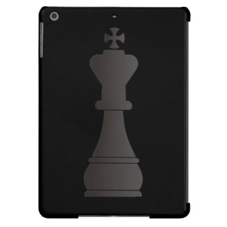 Black king chess piece iPad air covers