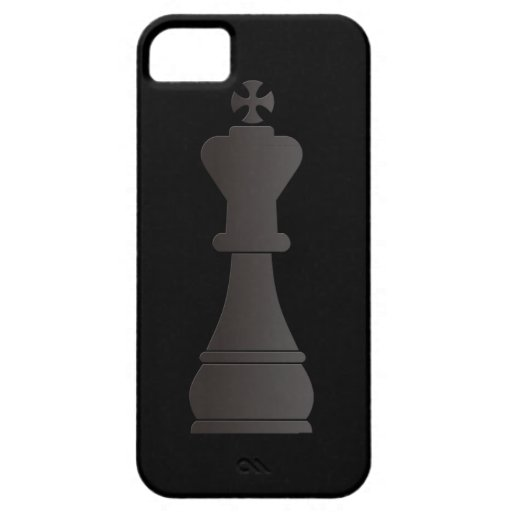 Black king chess piece case for iPhone 5/5S