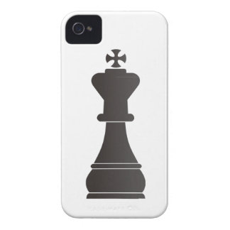 Black king chess piece iPhone 4 case