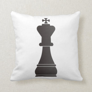 Black king chess piece cushion
