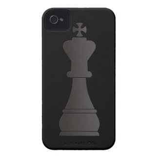 Black king chess piece iPhone 4 cover