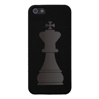 Black king chess piece iPhone 5 case