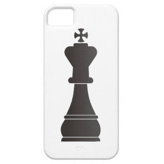 Black king chess piece iPhone 5 covers