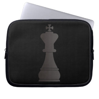 Black king chess piece laptop computer sleeves