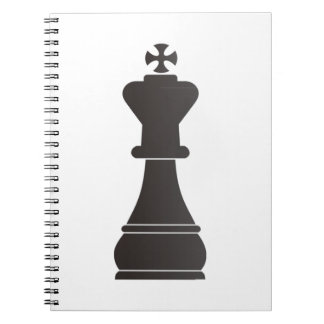 Black king chess piece notebook