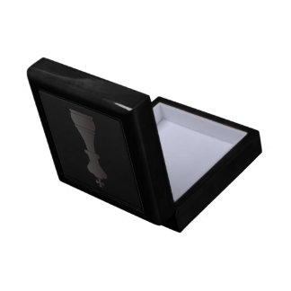 Black king chess piece small square gift box