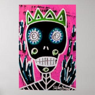 Black King Sugar Skull Angel Poster