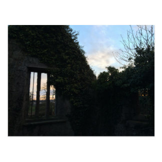 Black Kirk Sunset Windows: Outlander Film Location Postcard
