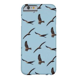 Black Kite Frenzy iPhone 6 Case (Light Blue)