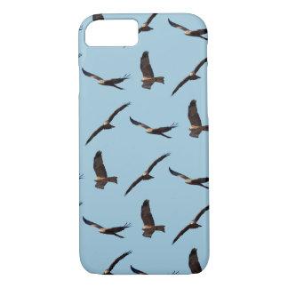 Black Kite Frenzy iPhone 8/7 Case (Light Blue)