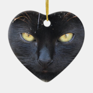 Black kitten Decoration Ceramic Heart Decoration