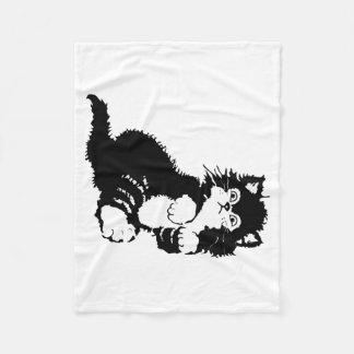 Black Kitten Fleece Blanket