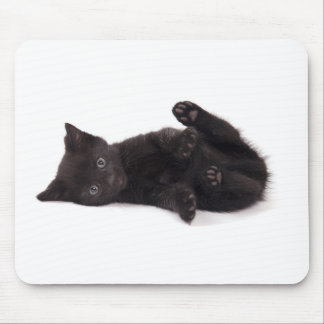 black kitten mouse mat