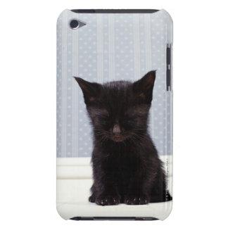 BLACK KITTEN SLEEPING iPod TOUCH CASE