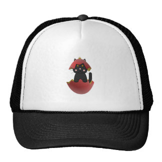 Black Kitty In A Red Christmas Ornament Trucker Hats