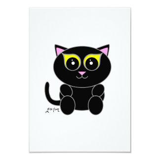 "Black Kitty 3.5"" X 5"" Invitation Card"