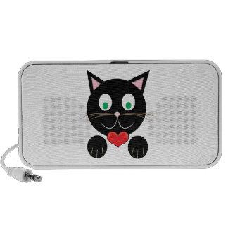 Black Kitty Laptop Speakers
