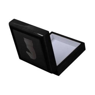 Black knight chess piece keepsake box