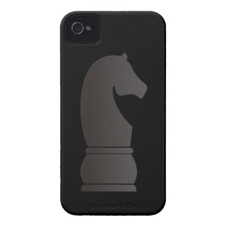 Black knight chess piece iPhone 4 cases