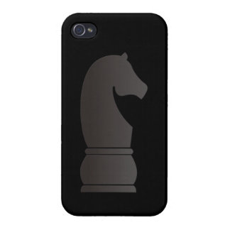 Black knight chess piece iPhone 4/4S cover