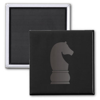Black knight chess piece magnets