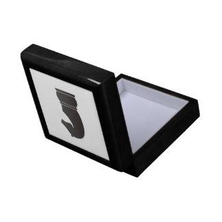 Black knight chess piece small square gift box