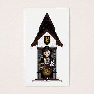 Black Knight on Horseback Bookmark Business Card