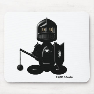 Black Knight (plain) Mouse Mat