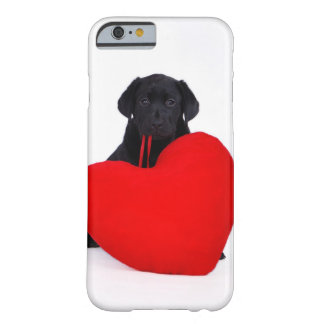 Black lab and heart barely there iPhone 6 case