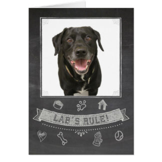 Black Lab Chalkboard Birthday Card