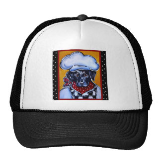 Black Lab Chef Cap