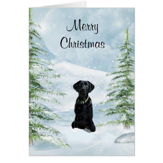 Black lab Christmas Card