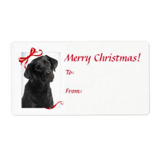 Black Lab Christmas Gift Labels