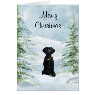 Black lab Christmas Greeting Card
